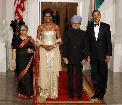 奥巴马设国宴款待印度总理 细节凸显政治意图