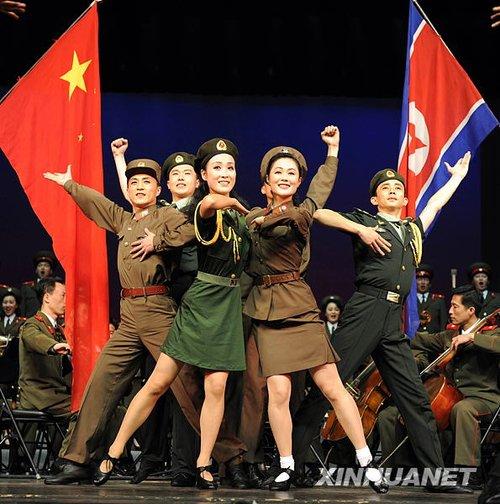 朝鲜文艺女兵演出视频