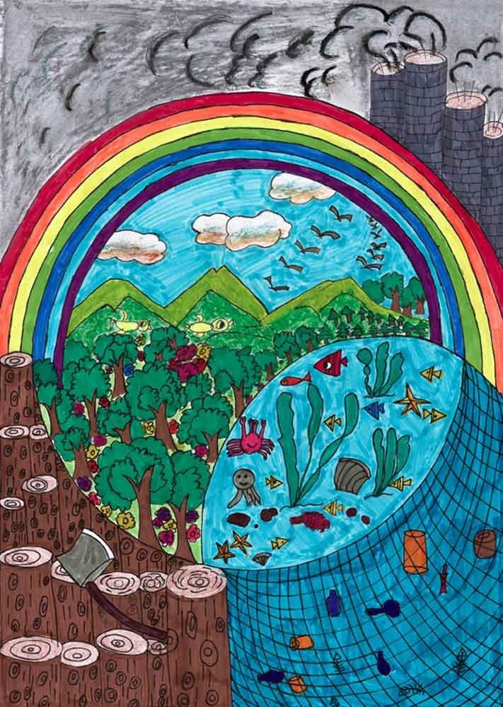 中国儿童环保教育计划暨中国儿童环保绘画大赛获奖作品 张雪晴(女图片