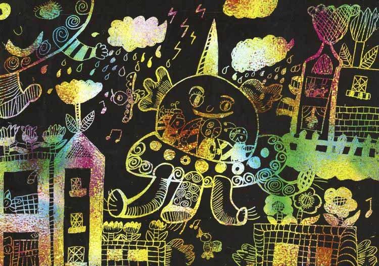 组图:中国儿童画作点亮哥本哈根之小小设计师