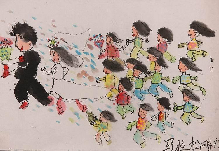 《马拉松婚礼》 中国儿童环保教育计划暨中国儿童环保绘画大赛获奖图片