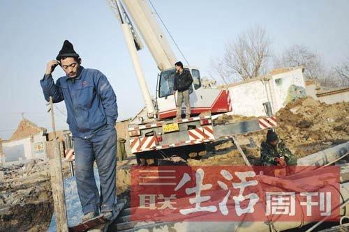 北京大兴区农村生态在拆迁中快速改变(于楚众 摄)
