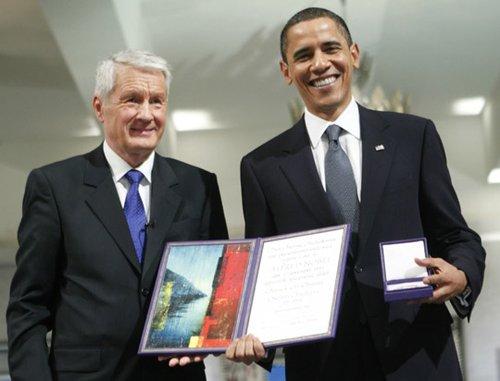 """奥巴马:其他人可能""""更适合""""获颁诺贝尔和平奖"""