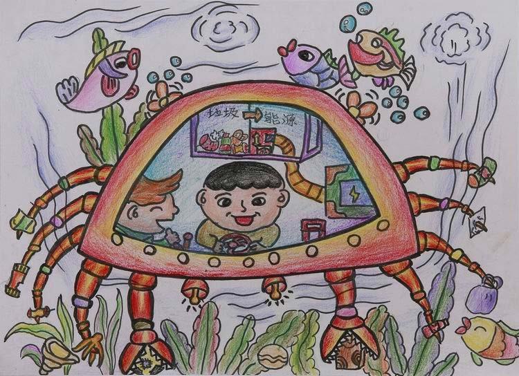 组图:中国儿童环保画之垃圾焚烧厂篇图片
