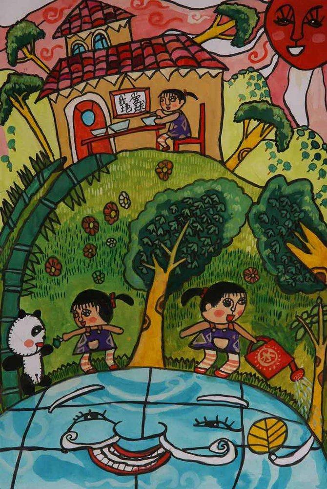 《我爱地球》 中国儿童环保教育计划暨中国儿童环保绘画大赛获奖作品图片