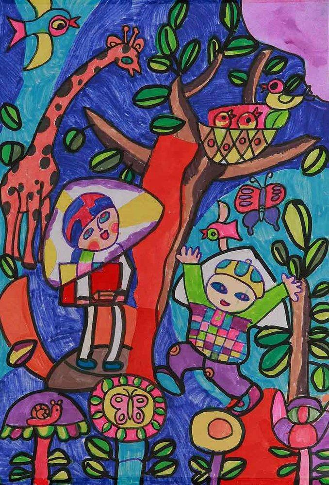 儿童画 环保画 水资源