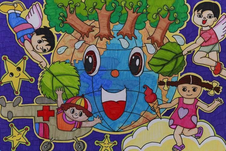 组图:中国儿童环保画之丹麦制造