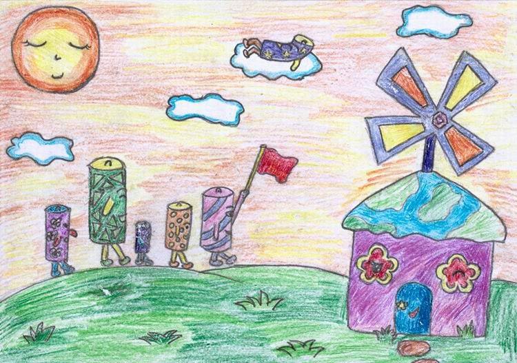 画一幅保护环境的图画-中国儿童环保画之丹麦制造