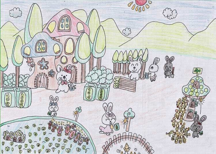 《环保e族》 中国儿童环保教育计划暨中国儿童环保绘画大赛获奖作品图片