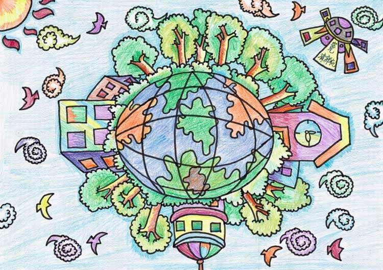 中国儿童环保教育计划暨中国儿童环保绘画大赛获奖作品 马牧源(哈