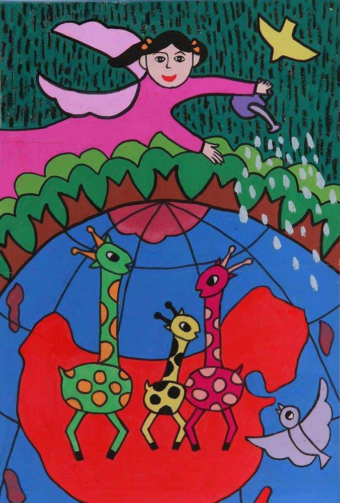 《生态平衡》 中国儿童环保教育计划暨中国儿童环保绘画大赛获奖作品图片