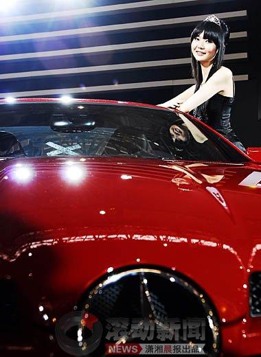 2009长沙车展:美女车模