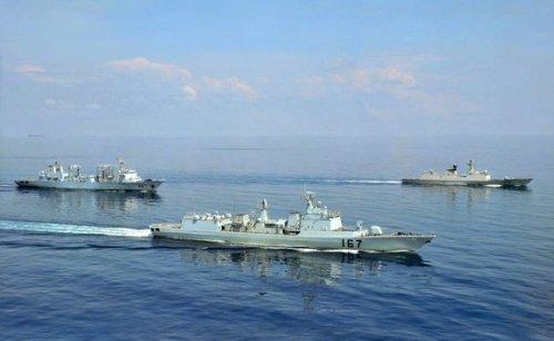 美媒:中国海军护航编队战斗力很弱(图)