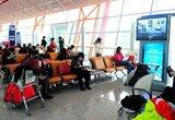 旅客在北京首都机场候机