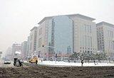 雪中的王府井大街