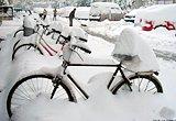 [河北]白雪覆盖的自行车
