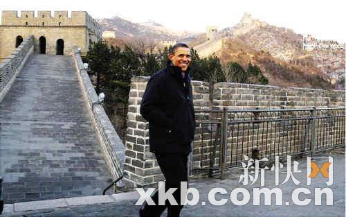 奥巴马长城照成服装广告 白宫要求撤下(图)