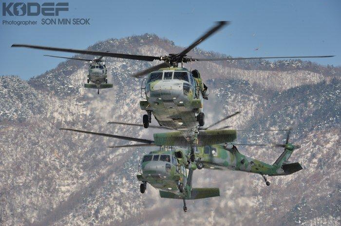高清图:韩国最强直升机部队装备的UH-60P黑鹰