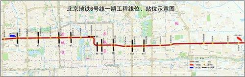 北京轨道交通6号线一期工程规划方案公告
