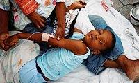 海地地震灾区的儿童