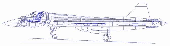 俄罗斯五代机T-50结构图