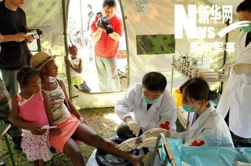 中国医疗防疫救护队日接诊人数首次突破500人