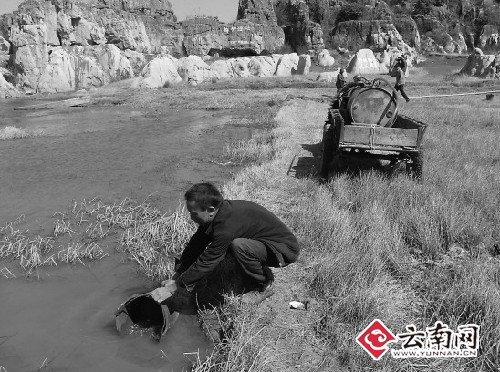 云南旱情持续加重 宣威村民20公里外拉水喝