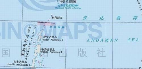 安达曼海河安达曼群岛地图