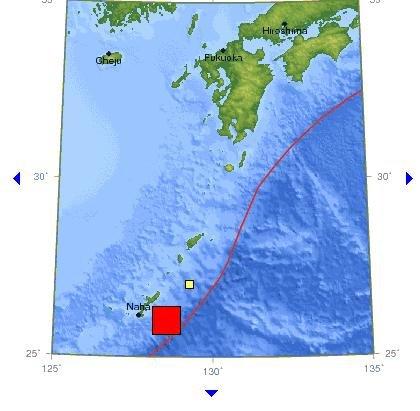 日本琉球群岛附近发生7.3级地震(图)