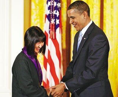美国华裔女建筑师获奥巴马颁国家艺术奖章
