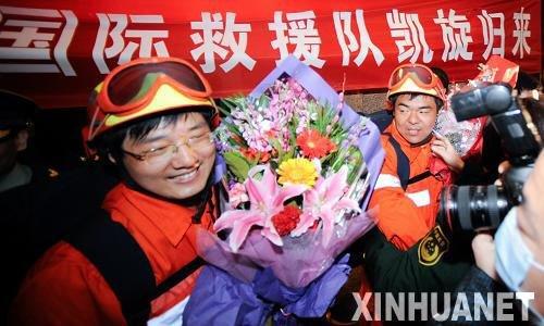 中国国际救援队接受22家境外媒体记者采访