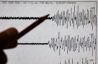 图文:地震仪记录显示智利地震达8.8级