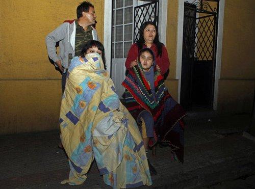 组图:智利强震 首都圣地亚哥震感明显