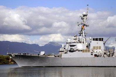 美国海军将军舰开出珍珠港防智利海啸