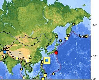 日本本州东海岸今发生5.4级地震