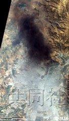 日本卫星拍下智利地震后圣地亚哥火灾场景
