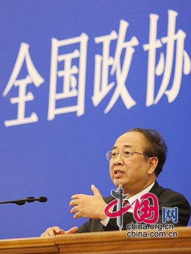 图文:赵启正回答记者提问