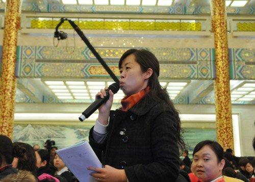 图文:新华社记者提问