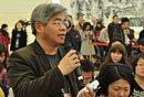 图文:台湾中国时报记者提问