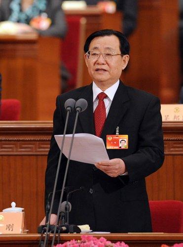 图文:全国政协副主席王刚主持会议