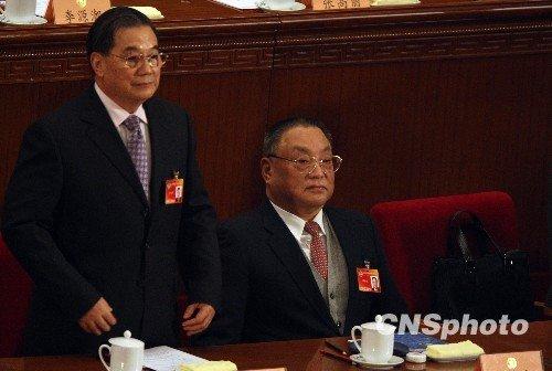 邓朴方出席政协第十一届三次会议开幕式(图)