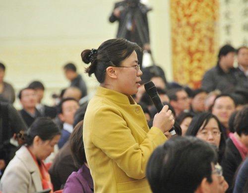 图文:中国国际广播电台记者提问
