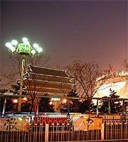 高清:天安门广场夜色迷人 灯光璀璨迎两会