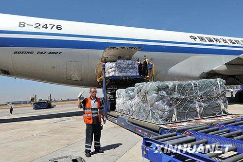 中国救援专机飞抵智利