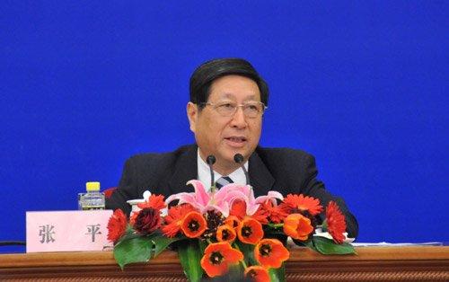 图文:国家发展和改革委员会主任张平
