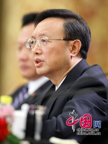 图文:外交部部长杨洁篪答记者问