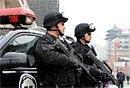 图文:北京特警巡逻保两会