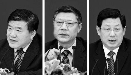 卫生部部长陈竺、住建部部长姜伟新及人社部副部长胡晓义联合解答民生问题(资料图)