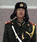 高清图:武警战士雪中执勤