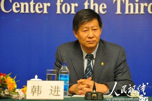图文:教育部发展规划司司长韩进